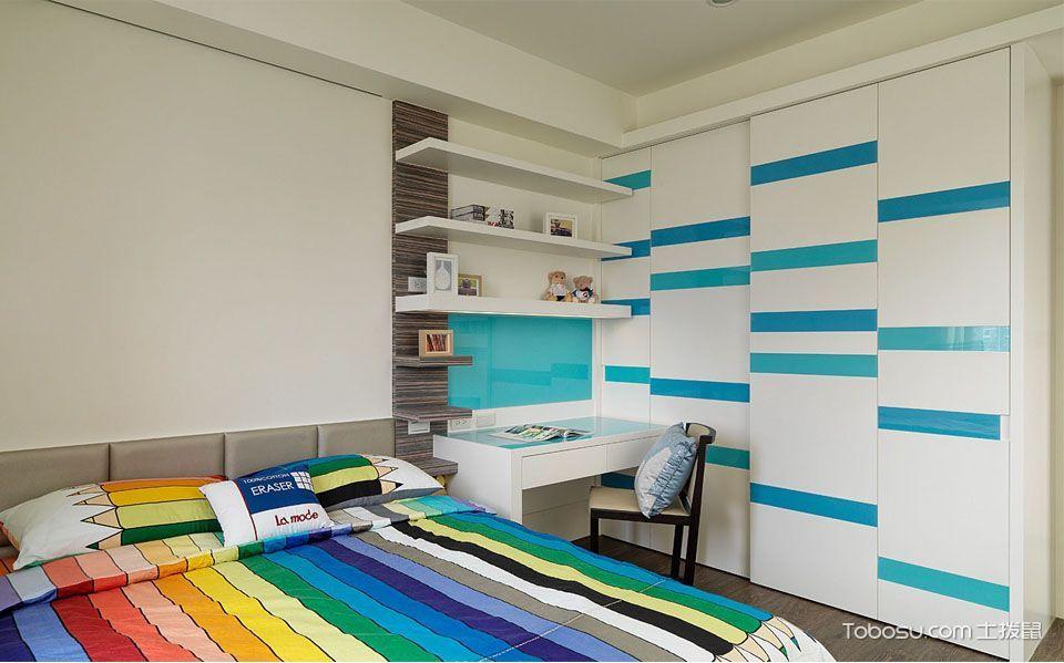 儿童房灰色床现代简约风格装饰设计图片