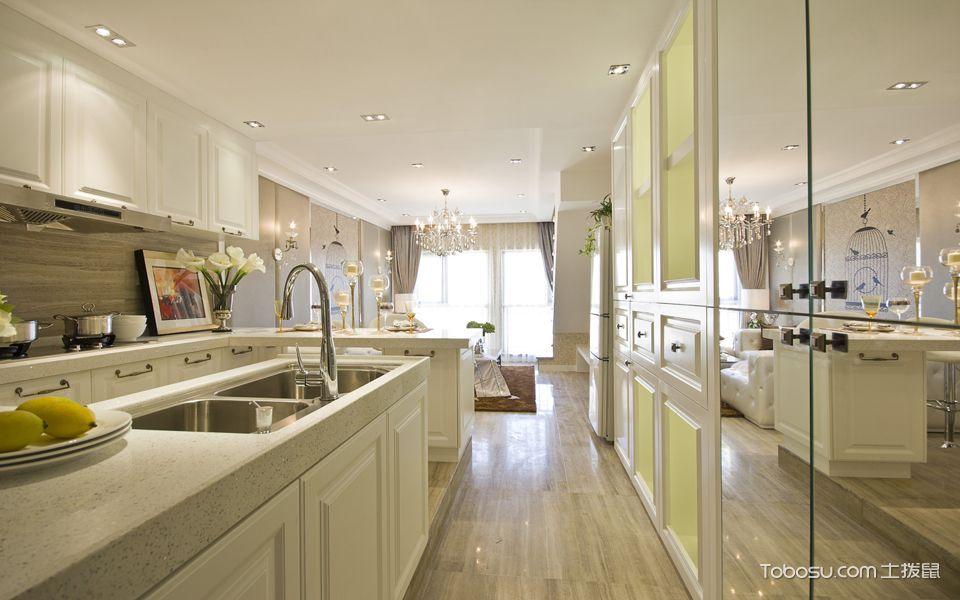 厨房白色走廊现代简约风格装饰设计图片