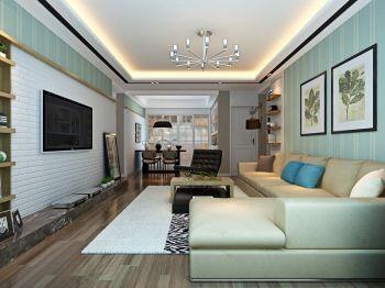 琥珀五环城现代简约三居室清新风装修效果图