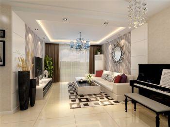绿城玫瑰园三室两厅家居现代简约风格效果图