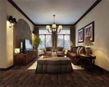 天鹅湖九号三室两厅家居美式装修效果图