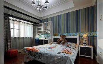 儿童房背景墙欧式风格效果图