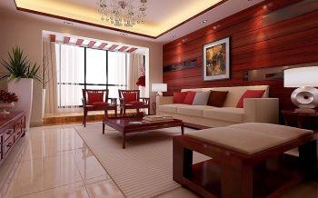 滨湖国际花都新中式风格三居室装修效果图