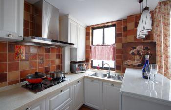 厨房欧式田园风格装修设计图片