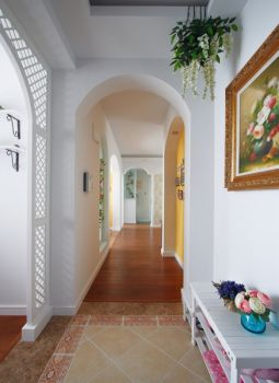 走廊欧式田园风格装潢设计图片