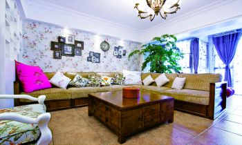 四居室家庭混搭装修风格案例图片
