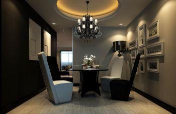 餐厅照片墙后现代风格装潢效果图