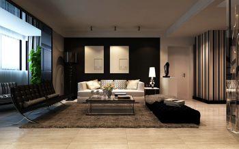 客厅背景墙后现代风格装潢图片
