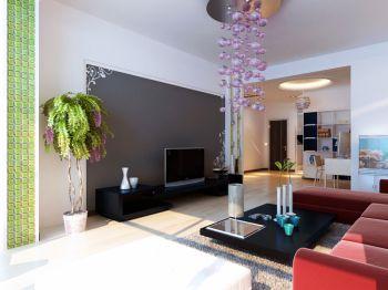 犀地6号楼73平米一室一厅时尚简约装修效果图