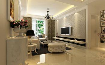 蓝鼎海棠湾简欧风格二居室装修样板案例图