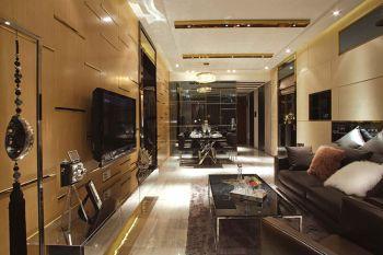 富力津门湖现代四居室家庭装修案例图片