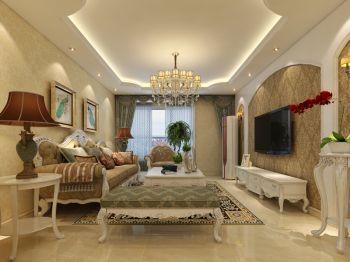 瀚唐二期三室两厅简欧风格装修效果图