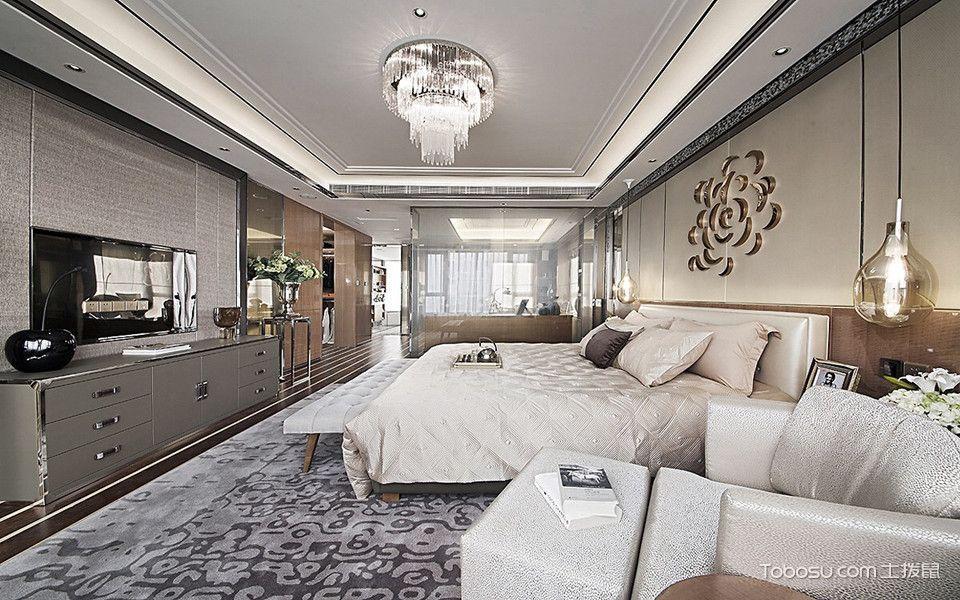 卧室白色床古典风格装潢图片