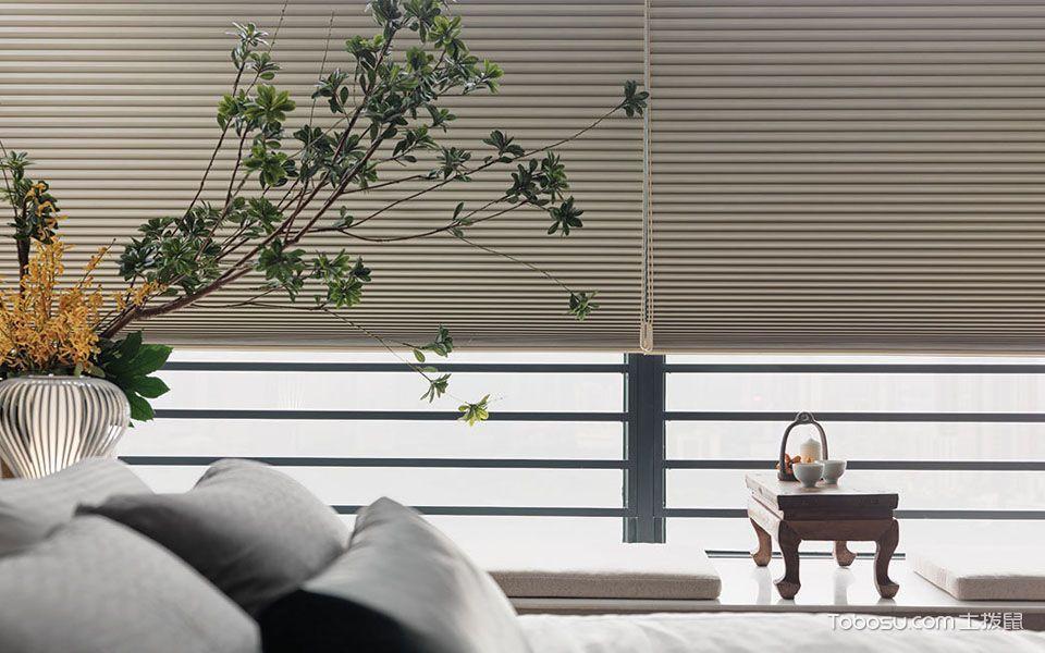 卧室米色榻榻米新中式风格装潢图片