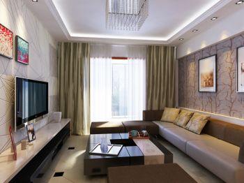 两室两厅家居现代时尚风格装修效果图案例