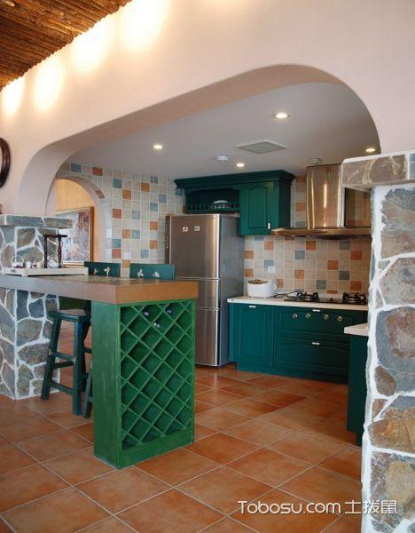 厨房吧台混搭风格装潢图片