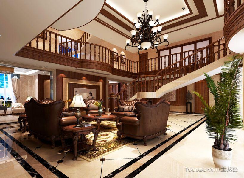 美式奢华别墅室内装修效果图案例欣赏