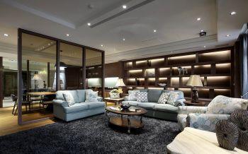 客厅博古架欧式风格装饰图片