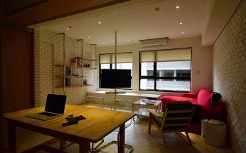 后现代风超小型三居室装修案例图