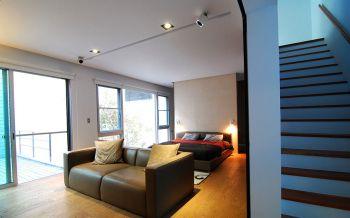 卧室楼梯后现代风格装潢图片