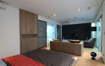 客厅背景墙后现代风格装饰设计图片