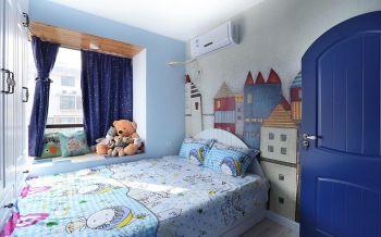 儿童房背景墙欧式风格装修设计图片