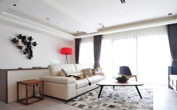 客厅窗帘简约风格效果图