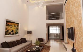 简约风格90平米两室一厅房子装修效果图