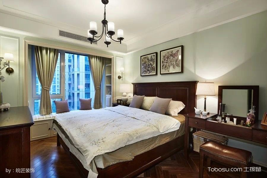 卧室白色飘窗美式风格效果图