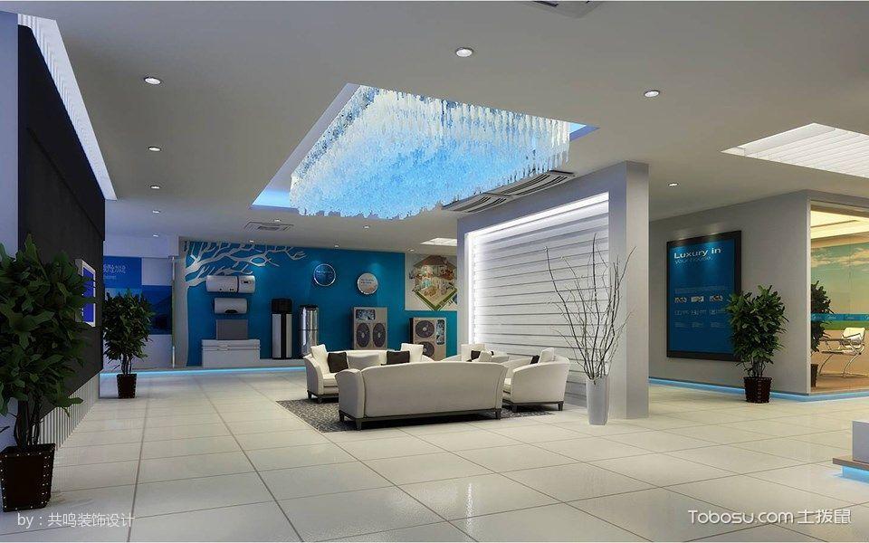 美的中央空調連云港展廳設計效果圖