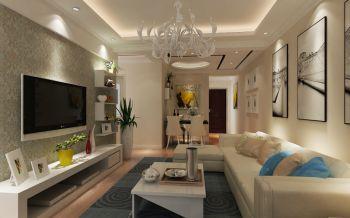 3.2万预算100平米三室两厅装修效果图