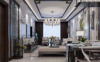2019现代中式90平米效果图 2019现代中式二居室装修设计