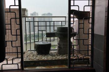 阳台隔断中式风格装饰效果图