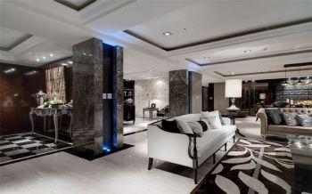 客厅走廊古典风格装潢效果图