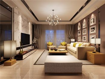 10万预算120平米三室两厅装修效果图