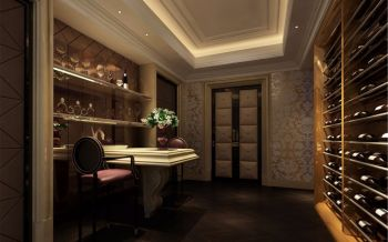 酒窖吧台新古典风格装饰图片