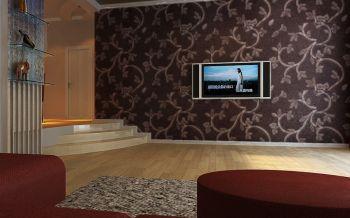 客厅背景墙简约风格装潢效果图