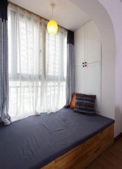 阳台窗帘现代简约风格装修效果图