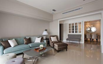 客厅绿色沙发现代风格装饰设计图片