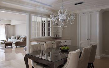 餐厅白色隔断现代风格装潢设计图片