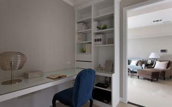 书房白色书桌现代风格效果图