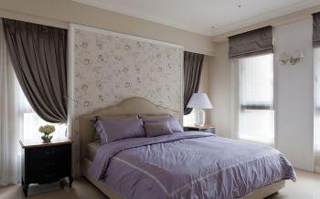 卧室灰色窗帘现代风格装修效果图