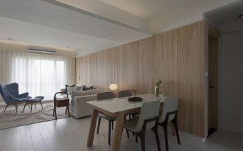 餐厅米色背景墙现代风格装修设计图片