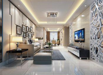 客厅米色照片墙现代风格装修效果图