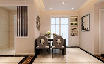 餐厅白色现代简约风格效果图