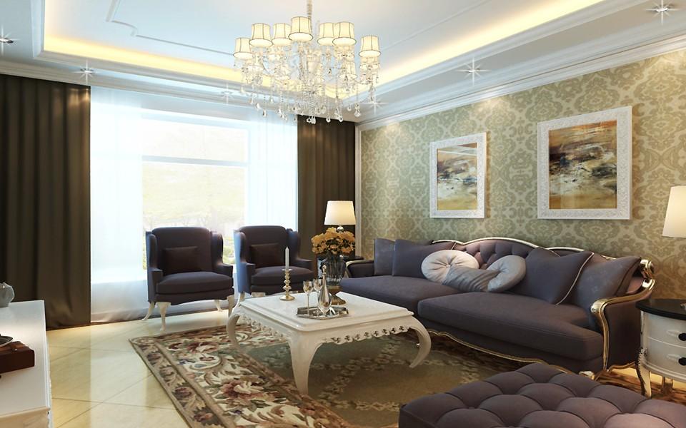 4室2卫2厅110平米简欧风格