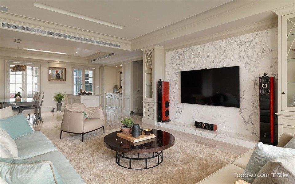 客厅 背景墙_10万预算120平米三室两厅装修效果图