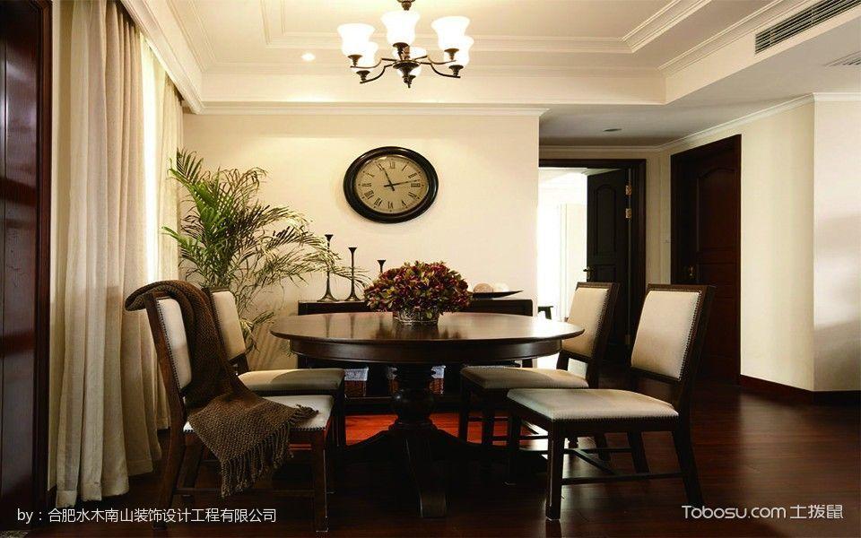 餐厅白色窗帘欧式风格装饰图片