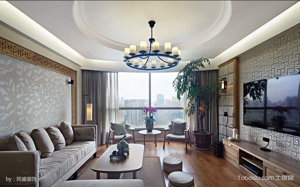 客厅 窗帘_8.6万预算120平米套房装修效果图