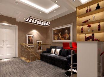 起居室吧台现代欧式风格效果图